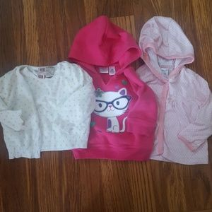 Carter's & Jumping Beans Lot of 3 Sweatshirts